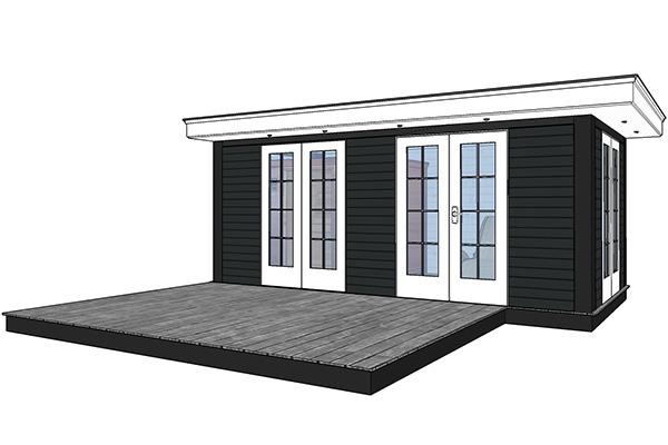 veranda met sauna