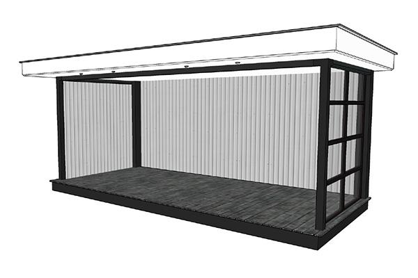 Lodz veranda industrieel